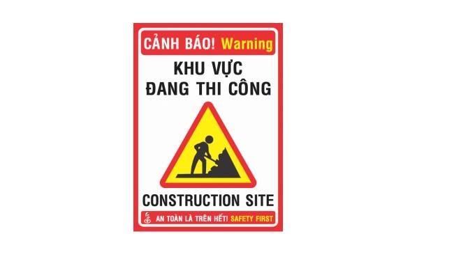 Biển báo công trường xây dựng