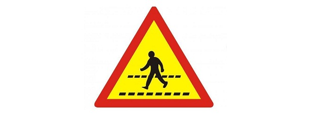 Biển báo giao thông cho người đi bộ