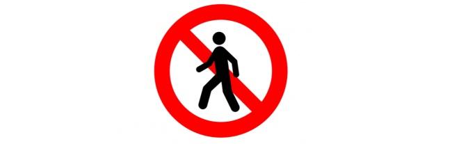 Các biển báo dành cho người đi bộ