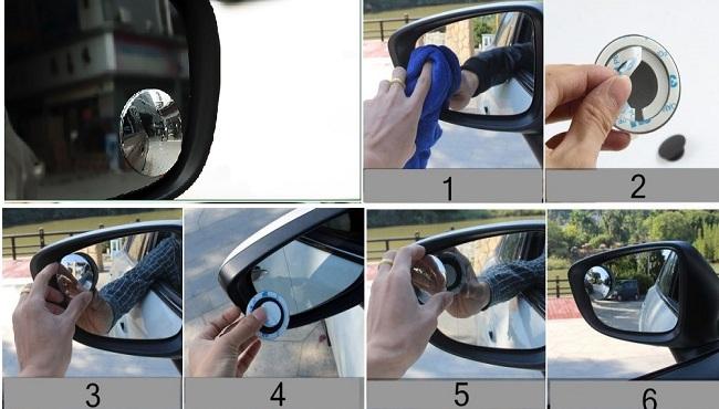 Cách lắp đặt gương cầu lồi cho ô tô