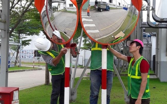 Nhận lắp đặt gương cầu lồi giao thông