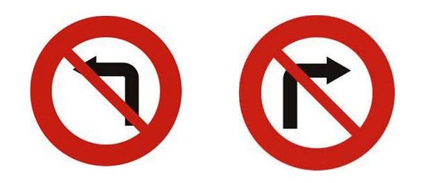 Ý nghĩa biển báo cấm rẽ trái rẽ phải