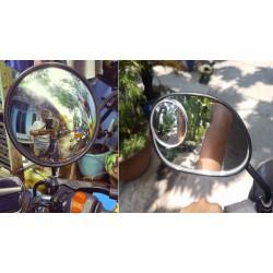 Có nên lắp đặt gương cầu lồi vào kính chiếu hậu xe máy?